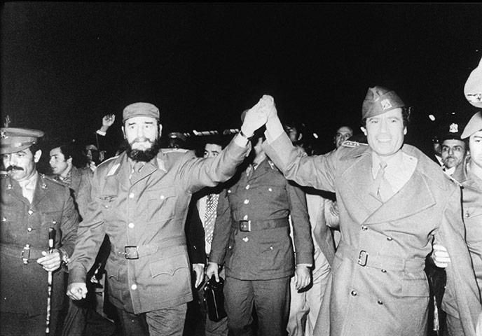 Muammar Gaddafi: 1977: Fidel Castro with Muammar Gaddafi
