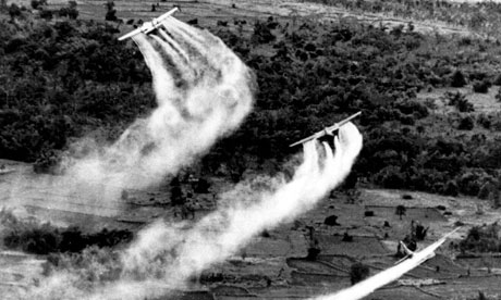 Image result for spraying agent orange in vietnam