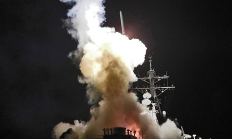 USS Barry launches a Tomahawk missile in support of Operation Odyssey Dawn