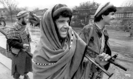 Afghan mujahideen in Bagram, 1992