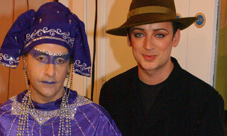 Phillip Sallon and Boy George (Photograph by Mark Allan/WireImage)