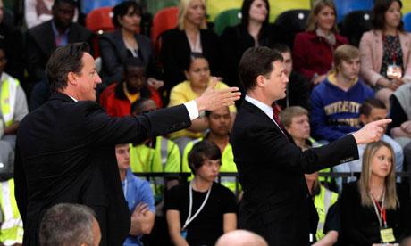 David Cameron and Nick Clegg 'body echo'