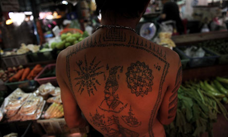 Thai person with tattoo
