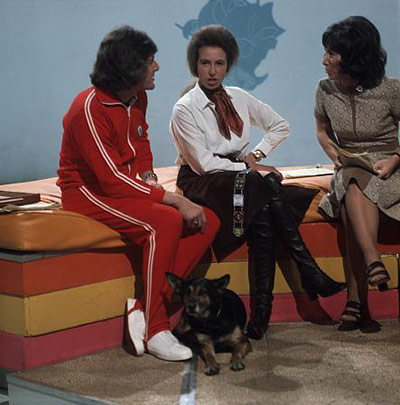 Princess Anne on Blue Peter