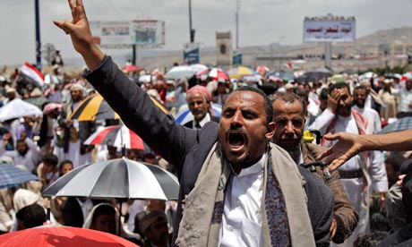 The latest violence in Yemen is likely to lead to Saudi Arabian calls for Saleh to step down. Photograph: Hani Mohammed/AP