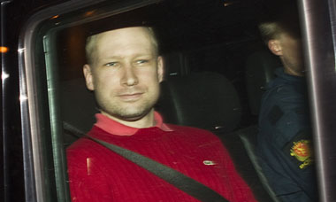 Norway attacks accused Anders Behring Breivik leaves court in Oslo