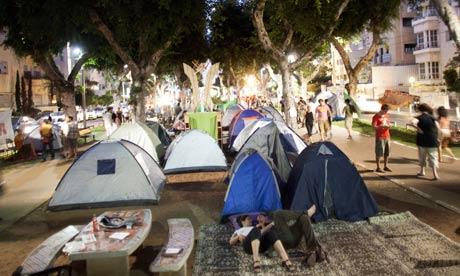 j14 tent protest movement