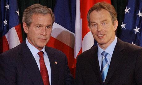 George Bush and Tony Blair
