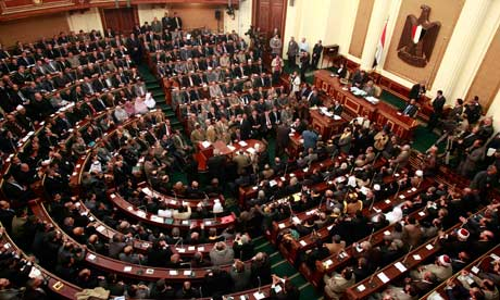 The first session of the new Egyptian parliament
