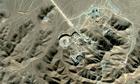 Aerial view of Iran's nuclear facility at Qom
