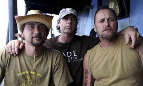 Australian activists Geoffrey Tuxworth, Simon Peterffy and Glen Pendlebury