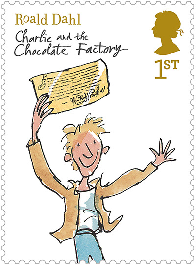 Roald Dahl stamps: Charlie and the Chocolate Factory