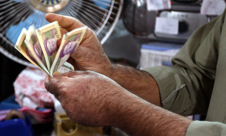Iran curency fell to a new record low ...