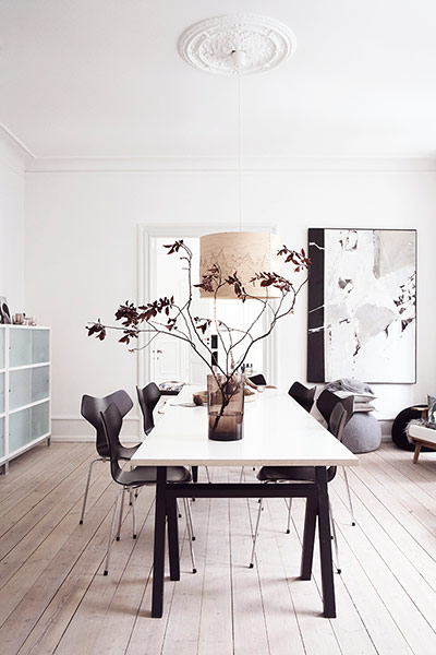Homes: Danish: the dining room