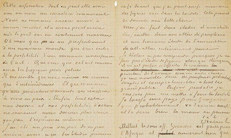 Vincent van Gogh and Paul Gauguin letter