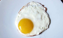 Delia Smith recipe fried egg