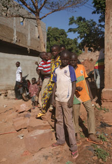 Mali refugees in Bamako