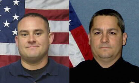 Officer Jeff Atherly and Corporal David Gogian