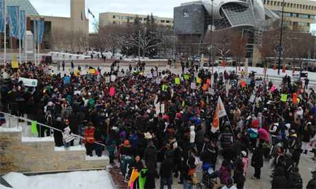 IdleNoMore rally in Edmonton, 11 December 2012