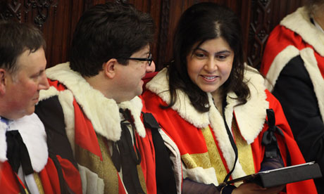 Warsi in the House of Lords, 2009.