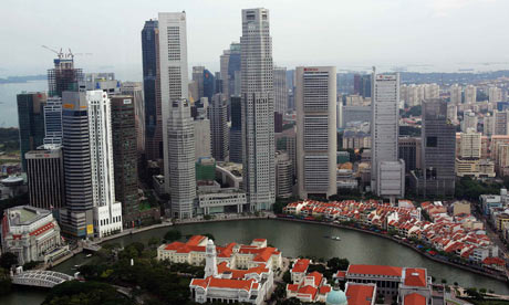 A view of the Singapore central business district