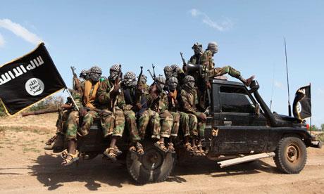 Al-Shabaab insurgents in Somalia