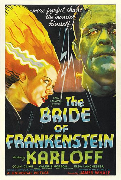 Top Selling Film Posters: Top Selling Film Posters - The Bride of Frankenstein, 1935