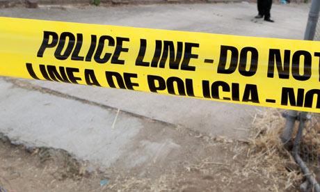 Police tape in California