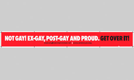 'Not gay! Ex-gay, post-gay and proud. Get over it!' advert