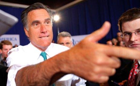 Republican candidate Mitt Romney in Rhode Island