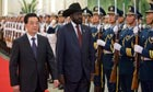 South Sudan's President Salva Kiir with China's President Hu Jintao in Beijing, China