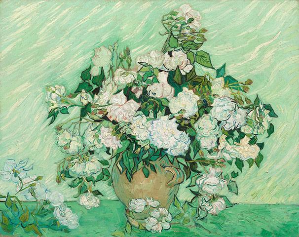10 Best: Vase with pink roses by Van Gogh