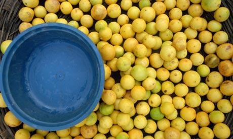 Lemonsat a vegetable market i