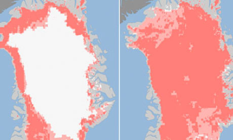 Greenland ice sheet composite.
