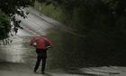 Heavy rain in Cheshire