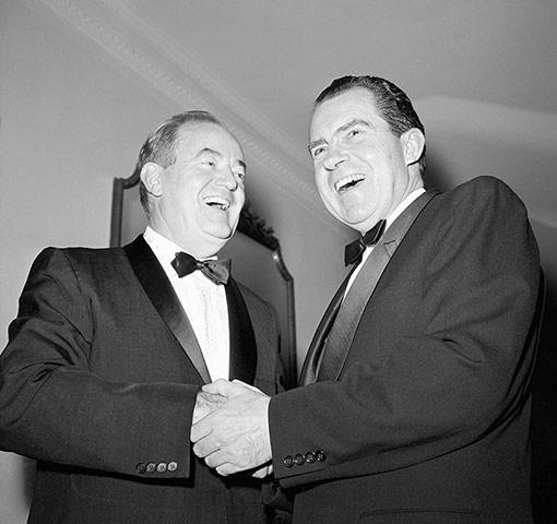 10 best: Richard Nixon And Hubert Humphrey Laughing