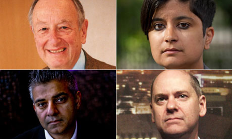 Key figures in secret courts debate: Lord Lester, Shami Chakrabarti, Jonathan Evans and Sadiq Khan