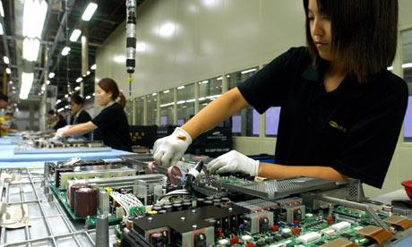 A Samsung production line