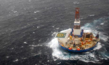 Alaska petróleo enviar el Kulluk