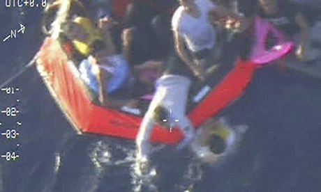 two dozen killed boat capsized lampedusa