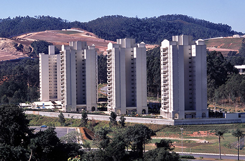 Tower blocks in Alphaville in Sao Paulo