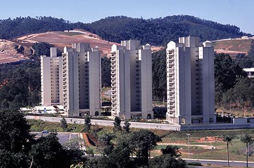 Tower blocks in Alphaville in Sao Paulo