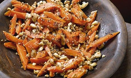 Hugh Fearnley-Whittingstall's carrots with almonds and cumin