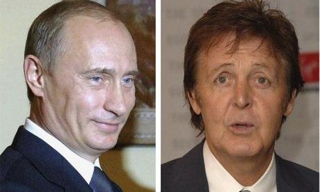 Vladimir Putin and Paul McCartney