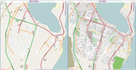 OpenStreetMap effects