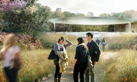 Future-primitive … the mini-me glass temple of the auditorium entrance.