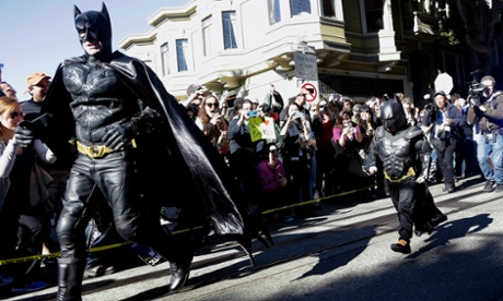 Miles Scott, dressed as Batkid