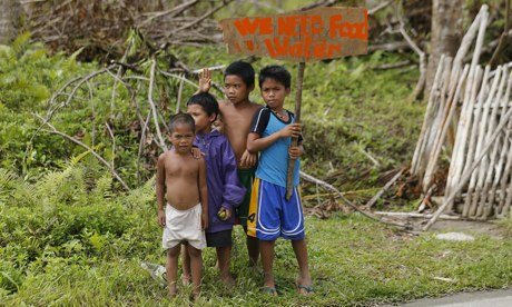 Typhoon Haiyan children