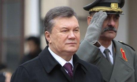 Ukrainian president Viktor Yanukovich