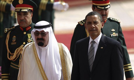 Saudi King Abdullah with Barack Obama